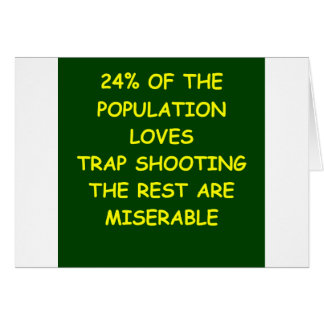 trap shooting greeting card