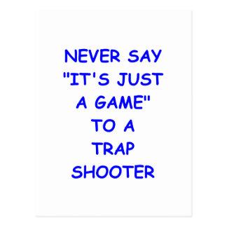 trap shooting post card