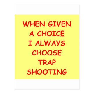 trap shooting postcard