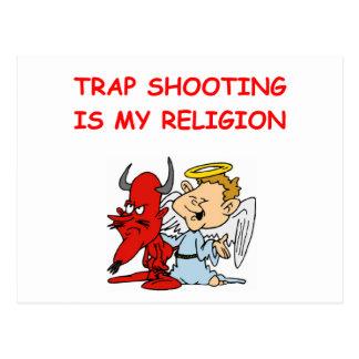 trap shooting postcards