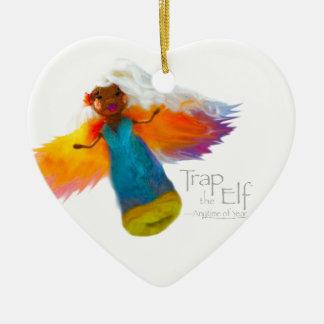 Trap the Elf™ Fairy Dance Ceramic Heart Decoration