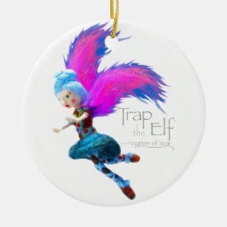 Trap the Elf™ Fairy Dance Round Ceramic Decoration