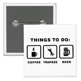 Trapeze 15 Cm Square Badge