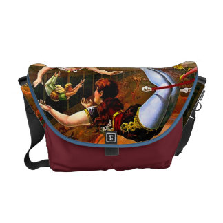 Trapeze Act Ladies Vintage Circus Poster Art Commuter Bags