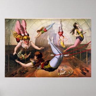 Trapeze Artist Circus Poster