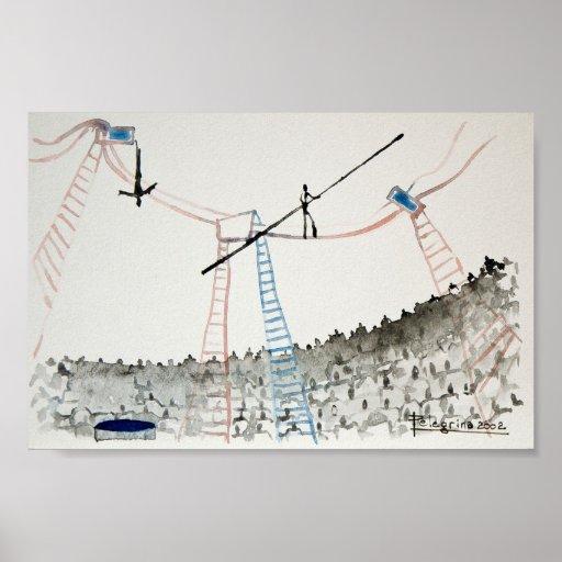trapeze artist print