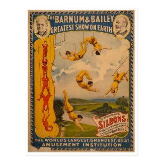 Trapeze artists Barnum & Bailey 1896 Postcard