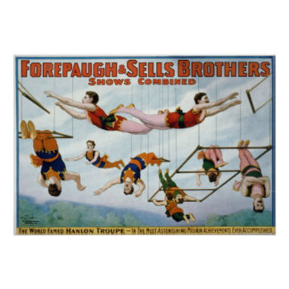 Trapeze Artists Forepaugh Selle Brothers Print