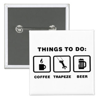 Trapeze 15 Cm Square Badge