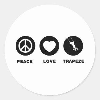 Trapeze Round Sticker