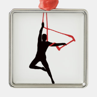 Trapeze Swing Aerialists Christmas Ornament