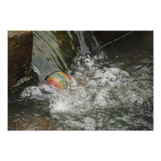 Trapped Rainbow Ball Photo Print