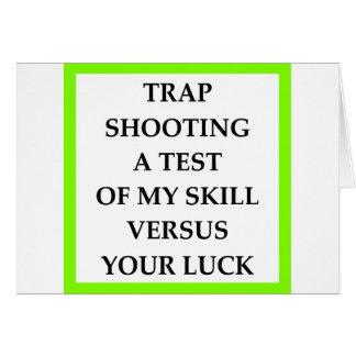 TRAPSHOOT GREETING CARD