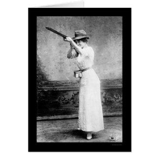 Trapshooting Woman with Shotgun 1914 Greeting Cards