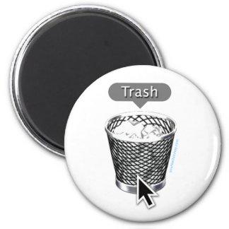 Trash. 6 Cm Round Magnet