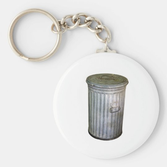 trash bin basic round button key ring