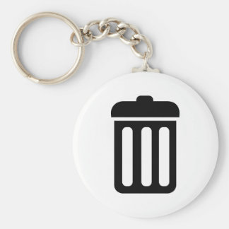 Trash bin symbol key ring
