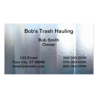 Trash Hauling Business Cards