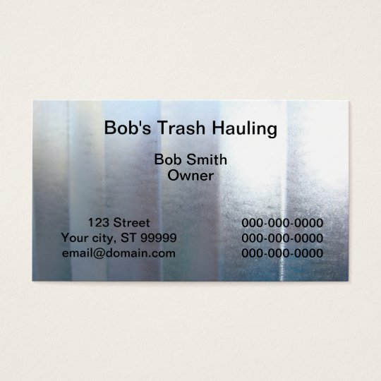 Trash Hauling Business Card