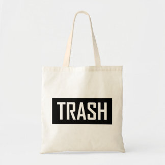 TRASH Hipster Cool Kid Trashy Earth Love Eco Love Tote Bag