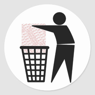 Trash Man Symbol (Add Photo) Round Sticker