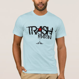 TRASH Martini Black Logo T-Shirt