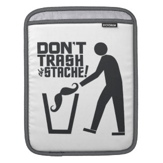 Trash Stache custom color iPad sleeve