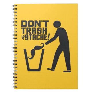 Trash Stache custom color notebook