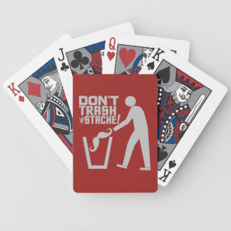 Trash Stache custom color playing cards