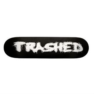 Trashed again skate board deck