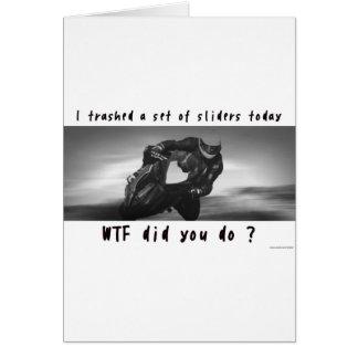 Trashed Sliders Greeting Card