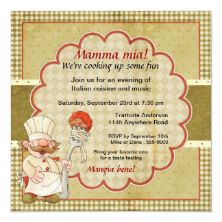 Trattoria Chef Pasta Party Card
