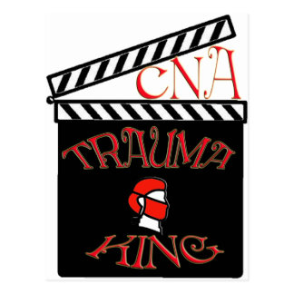 TRAUMA KING / QUEEN NURSE CNA FUNNY GIFTS POSTCARD