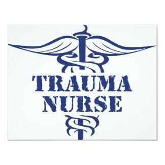 trauma nurse 11 cm x 14 cm invitation card