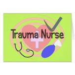 """Trauma Nurse"" Gifts Greeting Cards"