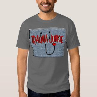 "Trauma Nurse ""Trauma Junkie"" Gifts Shirts"