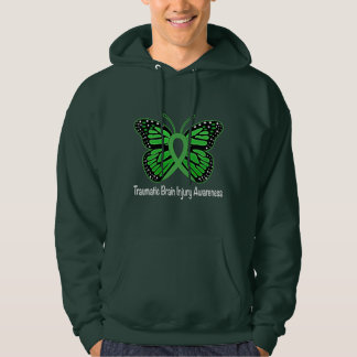 Traumatic Brain Injury Awareness Butterfly Ribbon Hoodie