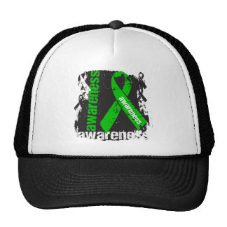 Traumatic Brain Injury Awareness Grunge Ribbon Mesh Hats