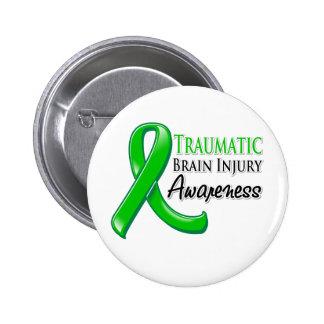 Traumatic Brain Injury Awareness Ribbon Button