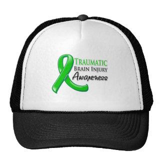 Traumatic Brain Injury Awareness Ribbon Hats