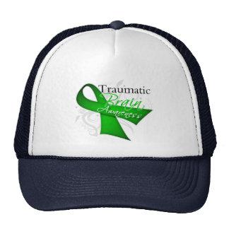 Traumatic Brain Injury Awareness Ribbon Mesh Hats