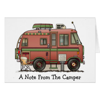 Travco Motor Home Camper RV Card