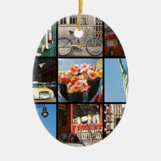 Travel abroad to NewYork Ceramic Oval Decoration