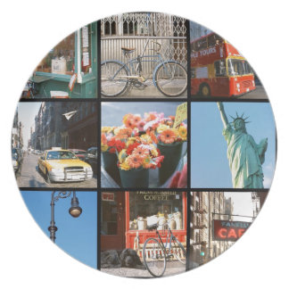Travel abroad to NewYork Plate