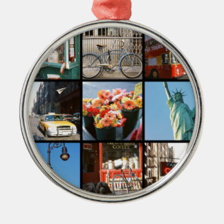 Travel abroad to NewYork Silver-Colored Round Decoration