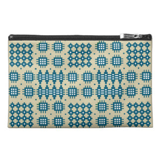 Travel Accessories Bag Navy Welsh Tapestry Pattern