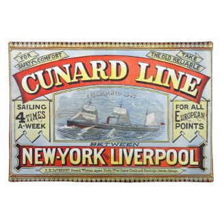 Travel Ad 1875 Placemat