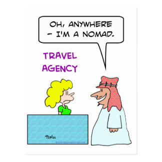 travel agency anywhere nomad post card