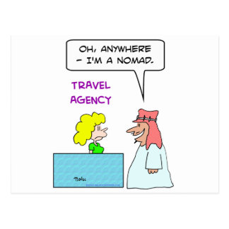 travel agency anywhere nomad postcard