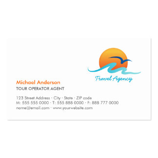 Travel Agency Tourism Tour Operator business card